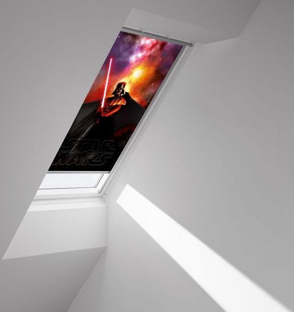 sjenilo za krovni prozor 55 x 98 cm velux siesta dkl star wars. Black Bedroom Furniture Sets. Home Design Ideas